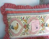 Cottage Country Rooster Pillow Cover