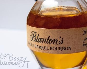 Blantons Christmas Ornament-- Bourbon Whiskey Themed Christmas Tree Ornament.