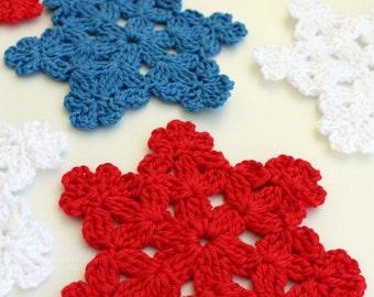 Crochet Snowflake PATTERN-Snowflake Coasters DIY Christmas Gifts-Winter Crochet Home Decor-Instant Download PDF Pattern No.3 Lyubava Crochet