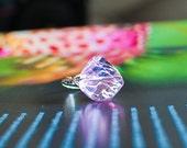 Pink Sea Glass Ring/ beach jewelry/ beach wedding/ bridesmaid jewelry/ surfer girl jewelry/ pink ring/ pink jewelry/ sea glass jewelry