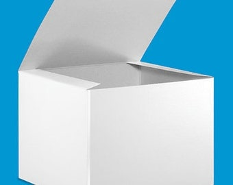 BOXES / 8x8x6 inch / Food Safe WHITE Gloss Gift Packaging / Set of 10
