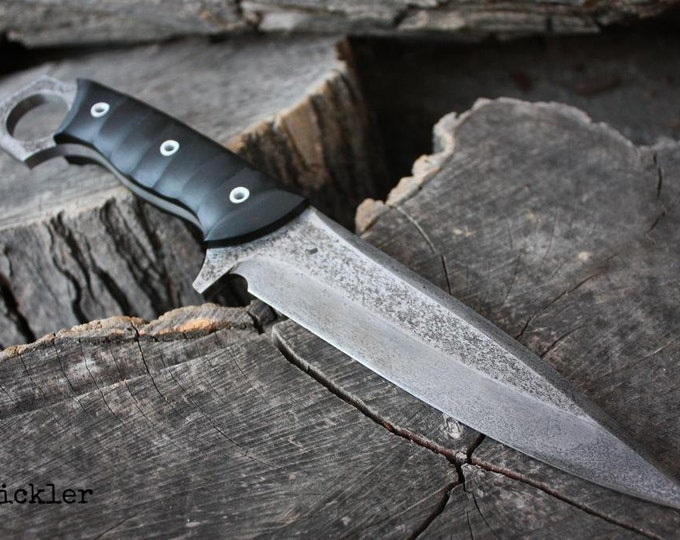 "Handcrafted FOF ""Stickler"", survival ring blade"