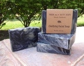 Clarifying Facial Soap with Activated Charcoal, Tea Tree & Rosemary, Cold Process Soap, VEGAN