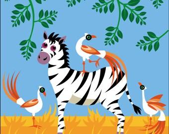 Children's Jungle Zebra print