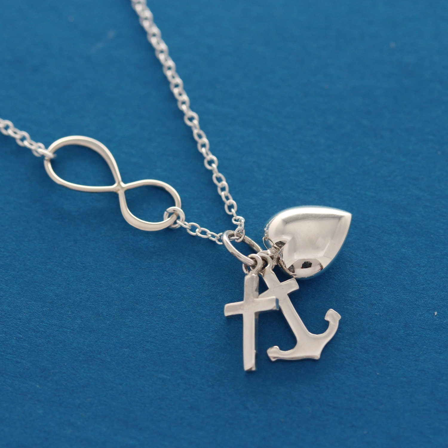 cross infinity necklace cross anchor by
