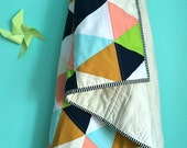 brights triangle quilt