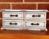 Shabby Chic Jewelry Box in Light Blue