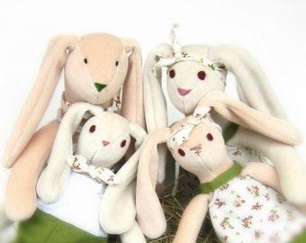 Stuffed Bunny Family PDF Sewing Pattern and Instructions, Soft toy patterns, Plush Rabbit Bunny Doll Pattern, Stuffed animal pattern