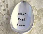 CUSTOM PERSONALIZE A Hand Stamped Teaspoon Create Your Own For A Unique Gift Idea Under 30 Made To Order