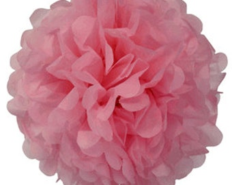 "4"" Light Pink Tissue Paper Pom Poms- Mini Paper Flower Pom- Wedding Decoartion- Baby Shower- Bridal Decor- Hanging Room Pom- Valentines Day"
