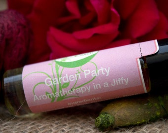 Garden Party, Pink, Blush, Rose, Floral, Summer Inspired,  Aromatherapy in a Jiffy Roller, 10ml