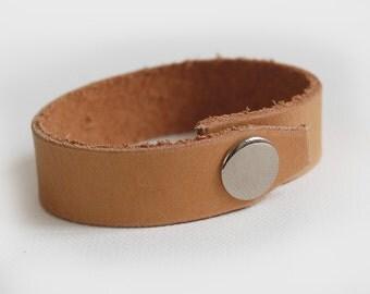 Caramel Leather Bracelet - Handmade Leather Bracelet