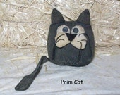 Primitive Black Cat Pattern - 244, Primitive Shelf Sitter Pattern, HAFAIR