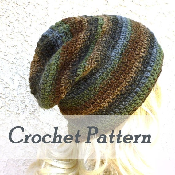 Crochet Stitch Exsc : Instant Download Crochet Pattern Slouchy Gaming Beanie Mens Beanie ...