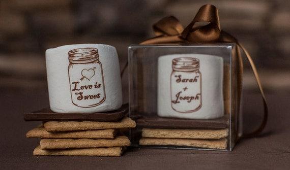 fall wedding favor smores kit