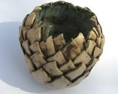 ceramic artichoke textured decorative pot