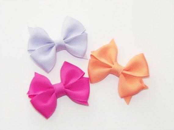 Baby Hair Bows Mini Hair Bows Set Of 3 Infant Hair Bows