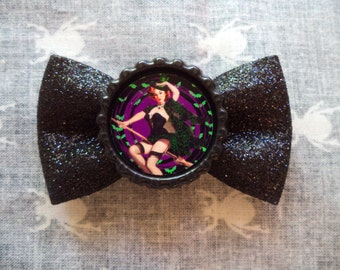 PinUp Witch Hair Bow