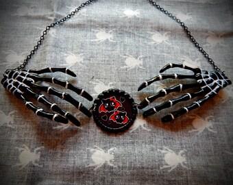 A Little Bit Batty Skeleton Necklace