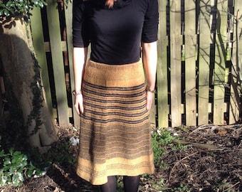 Simply Knit Skirt Pattern PDF. Womans Skirt Knitting pattern. Easy Knit Skirt Pdf Tutorial. Two simply skirt patterns. Eay to knit skirt