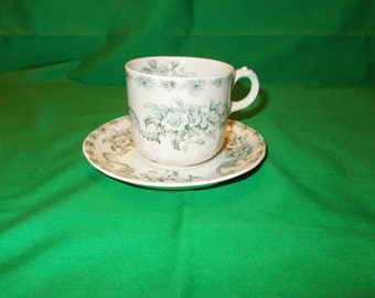 One (1), Demitasse Cup and Saucer, from Alfred Meakin, in the Mentone Pattern.