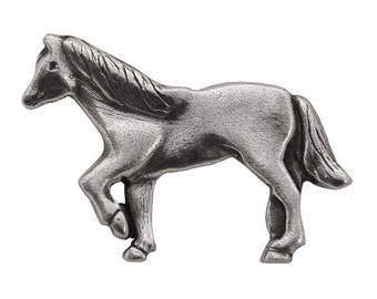 Danforth Horse 1.25 inch ( 31 mm ) Pewter Metal Button