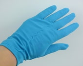 Vintage Electric Blue Gloves Ladies Blue Gloves Women's Dress Gloves