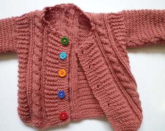 Knit baby cardigan, baby girl sweater,free shipping