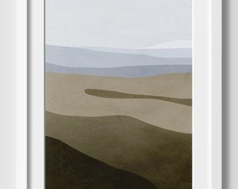 Beach Large Wall Art, Ocean Art Print, Beach Decor, Modern Art, Coastal Decor, Abstract Seascape