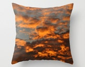 Sun and clouds in the sky photo pillow cover