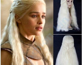 Mother of Dragons / Platinum Blonde Dany  // Full Synthetic Wig