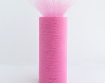 6 Inch Tulle Spool 25 Yards Hot pink - 1