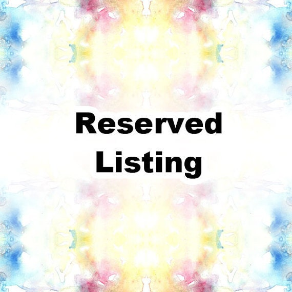 Reserved for  Maria