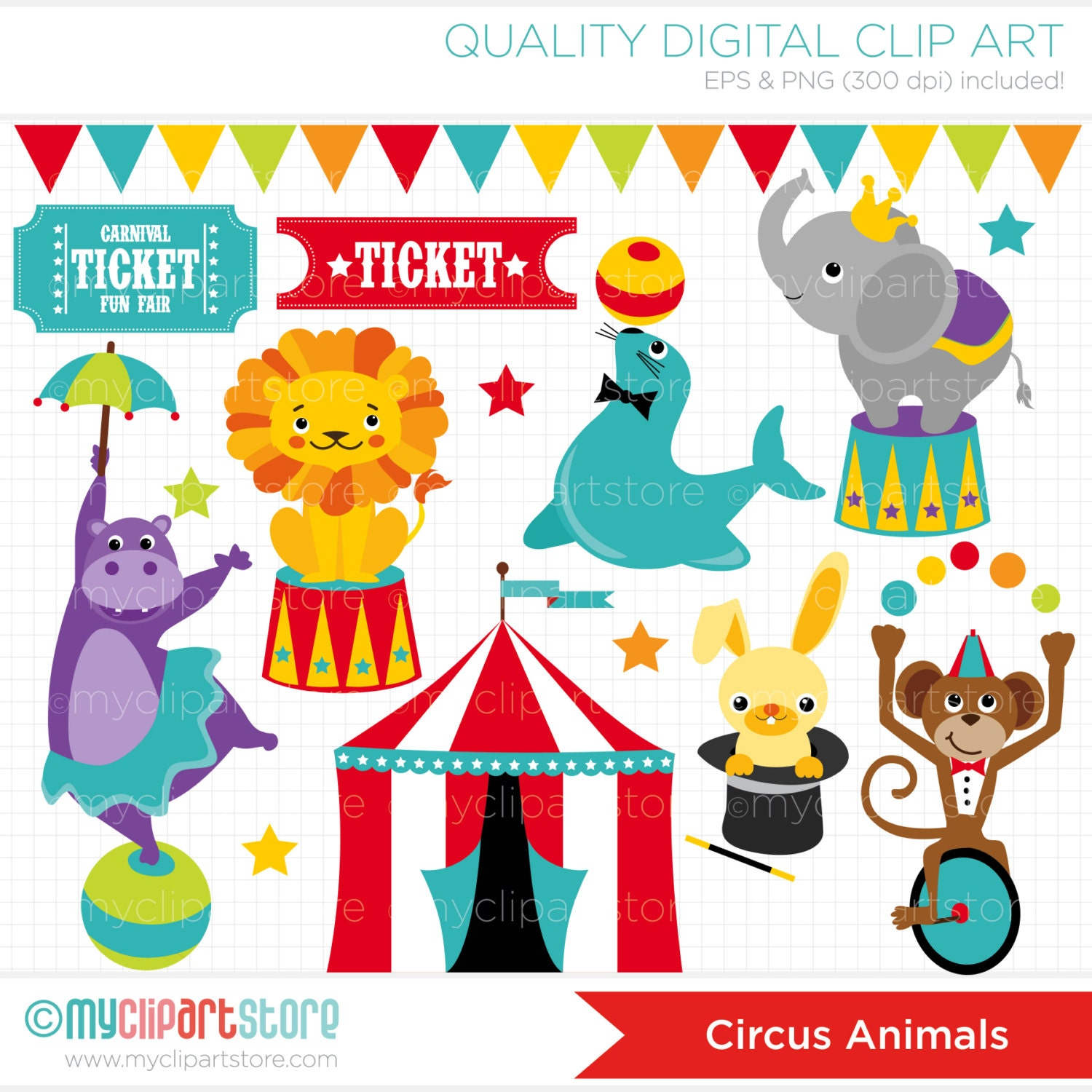 L Elephant Carnival Of The Animals Clipart Circus ...