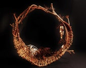Freeform small grapevine and willow basket - GreenfireCreations