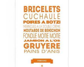 Poster Fribourg Foodie