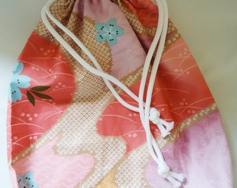 Handmade Draw String Bag.For Bento and More