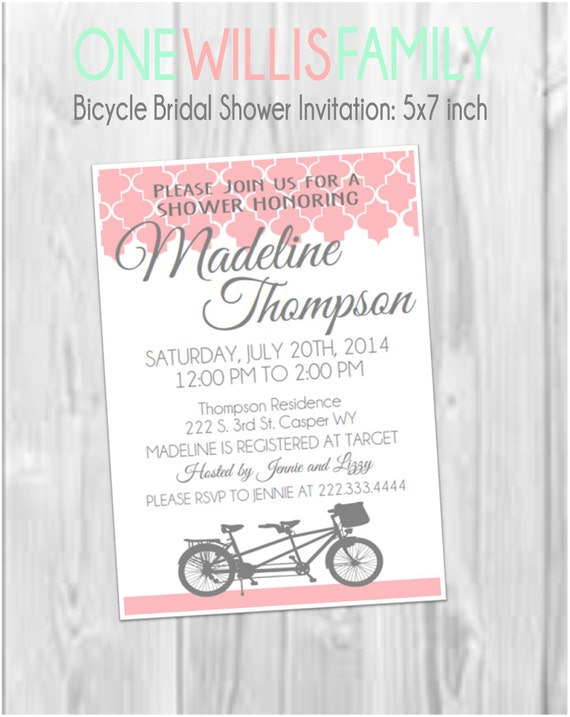 Bicycle bridal shower invitation by one willis family catch my party il570xn filmwisefo