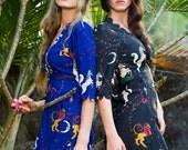 Enchanted Garden Maxi Scallop Wrap Dress