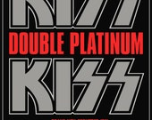 """KISS Stand-Up Display Album Advert For Release Of 1978 """"DOUBLE PLATINUM"""" Album"""