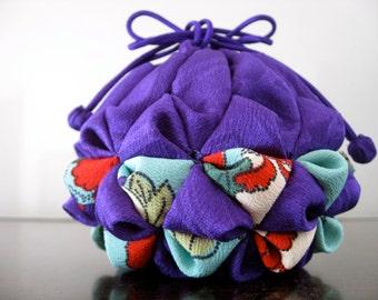 10%off ,sale,Lovely Bag,Traditional bag,Ornament,Japanese Silk kimono fabric,#4
