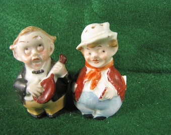 Vintage Little Gentleman Salt and Pepper Shakers
