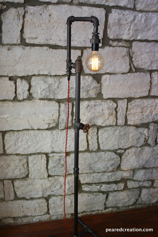 edison bulb floor lamp industrial style bare bulb light. Black Bedroom Furniture Sets. Home Design Ideas