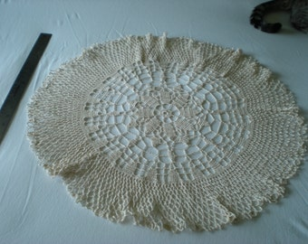 Ecru Doily with Slight Ruffle