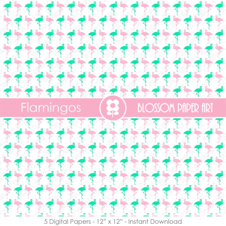 Papeles Digitales Bebes Papel Digital Decorativo Flamingos Rosa