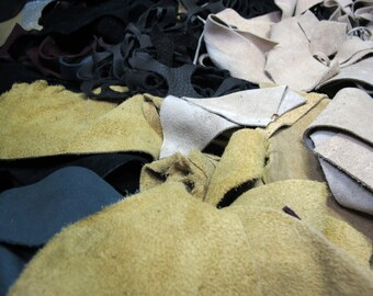 Suede Leather Scrap 10lb