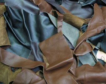 Upholstery Leather Scrap 5lb