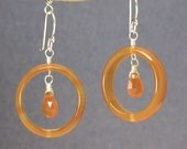 Carnelian Circles gemstone earrings Modglam 58