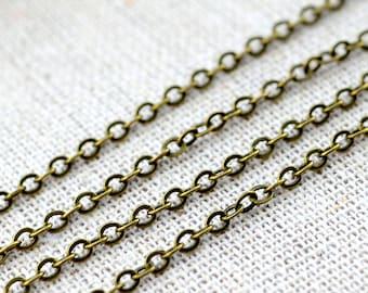 5M 2mm Antique Bronze Cross 0 Link Chains