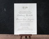 Nautical Foiled Wedding Invitation Suite - DEPOSIT